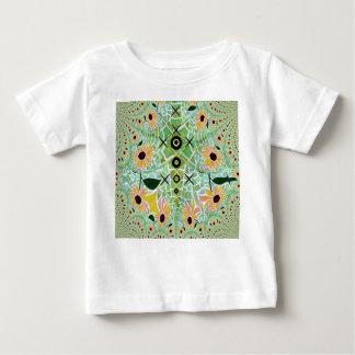Sunflower Tile Fractal Art Baby T-Shirt