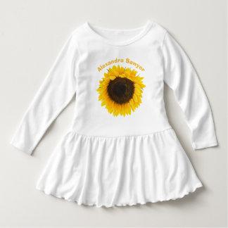 Sunflower Toddler Ruffle Tee