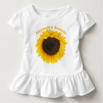 Sunflower Toddler Ruffle Tee