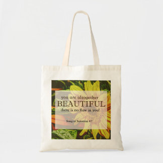 Sunflower Tote with Bible Verse