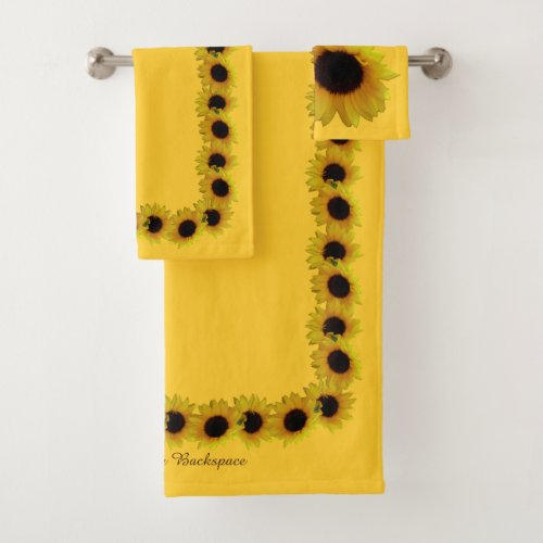 Sunflower Towel Sets Personalized Sunflower Towels