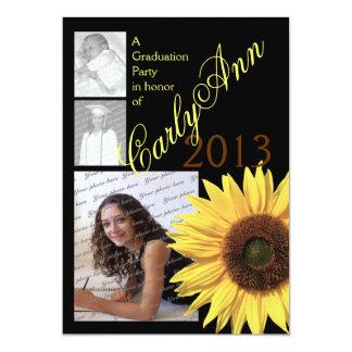 Sunflower Tri Photo Card