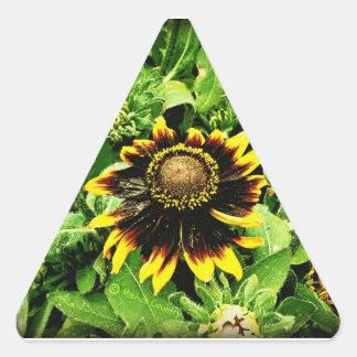 Sunflower Triangle Sticker