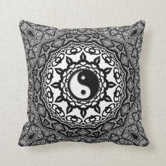 Sunflower Tribal Yin Yang Fusion Art Cushion