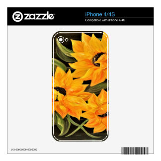Sunflower Trio Decal For iPhone 4