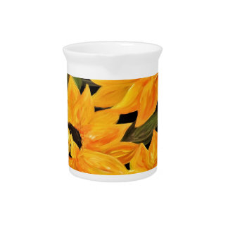 Sunflower Trio Drink Pitcher