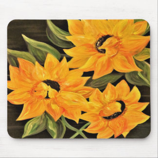 Sunflower Trio Mouse Pad