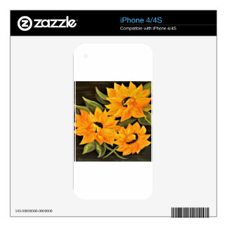 Sunflower Trio Skin For iPhone 4S