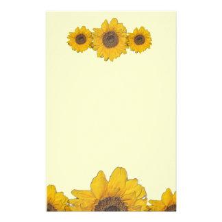 sunflower trio stationery design