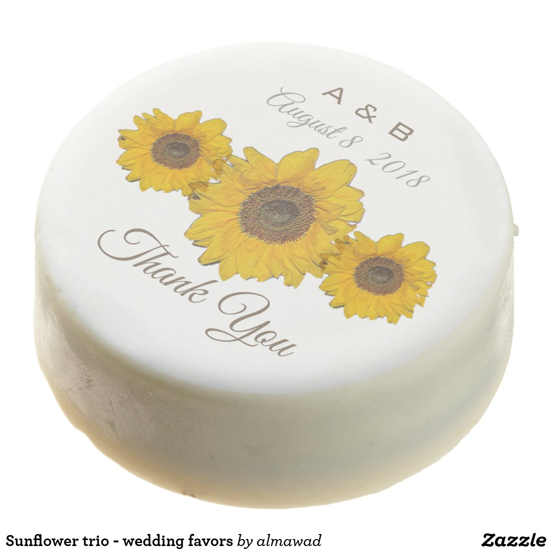 Sunflower trio - wedding favors