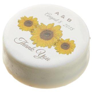 Sunflower trio - wedding favors