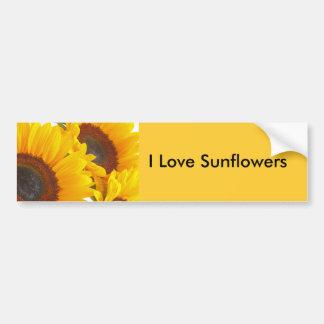 Sunflower Triplettes Car Bumper Sticker