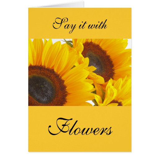 Sunflower Triplettes Greeting Card