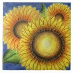 Sunflower Trivet Tile