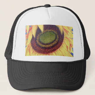 Sunflower Tropical Floral Art Painting - Multi Trucker Hat