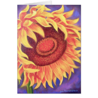 Sunflower Tropical Flower Painting - Multi Greeting Cards