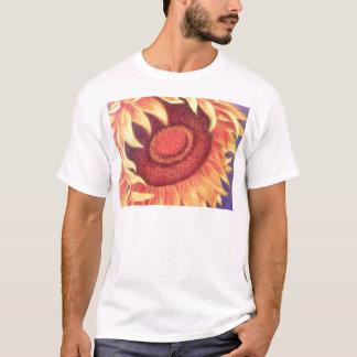 Sunflower Tropical Flower Painting - Multi T-Shirt