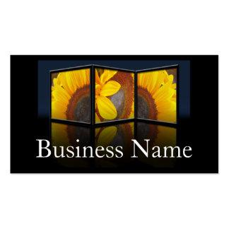 Sunflower Tryptych Frame Business Card