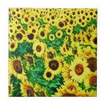 Sunflower two tiles