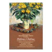 Sunflower Unique Mason Jar Engagement Party Card