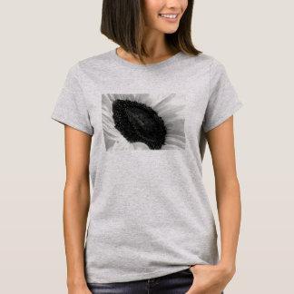 Sunflower Upturned Black and White Design T-Shirt