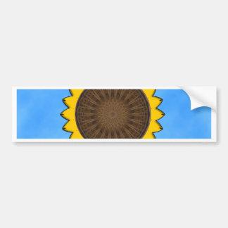 Sunflower Vector Design - Blue Background Bumper Sticker