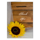 Sunflower Veil Country Bridesmaid Thank You Greeting Card