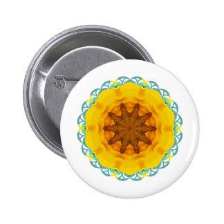Sunflower View Pinback Buttons
