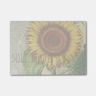 Sunflower Vintage Damask Wallpaper Collage Post-it® Notes
