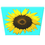 Sunflower Wall Art Stretched Canvas Print