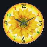 "Sunflower wall clock<br><div class=""desc"">Made your home warm,  colourful and attractive</div>"