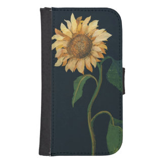 Sunflower Wallet Phone Case For Samsung Galaxy S4