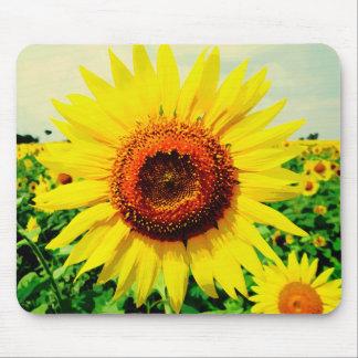 Sunflower Watercolor Art Mousepad