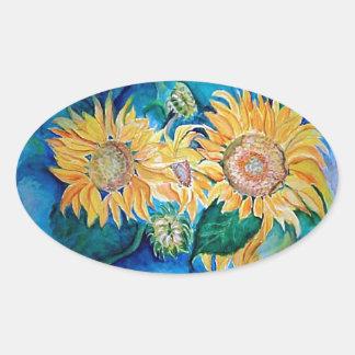 Sunflower Watercolor Art Sticker