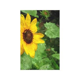 Sunflower Watercolor Canvas