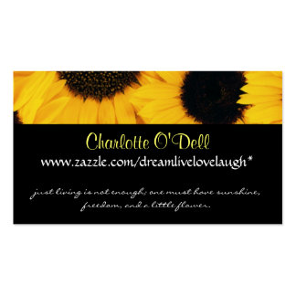sunflower; website marketing business cards