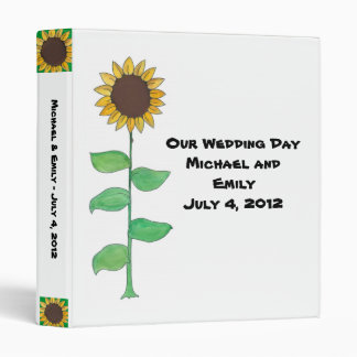 Sunflower Wedding Album Binders