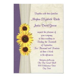 Sunflower Wedding Card