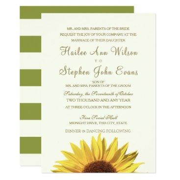 Beach Themed Sunflower Wedding Card