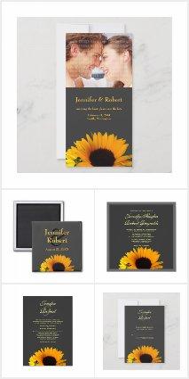 Sunflower Wedding Collection (Gray)