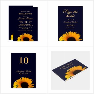 Sunflower Wedding Collection (Navy Blue)