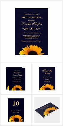 Sunflower Wedding Collection (Navy Blue)