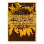 Sunflower Wedding Custom Invites