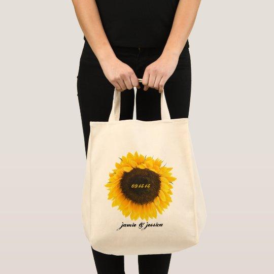 Sunflower Wedding Date Honeymoon Beach