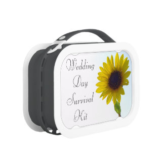 Sunflower Wedding Day Survival Kit Box Replacement Plate