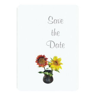 Sunflower Wedding Day Theme Save the Date Card
