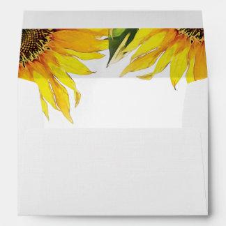 Sunflower Wedding Envelope