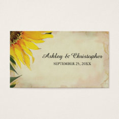 Sunflower Wedding Favor Tag at Zazzle