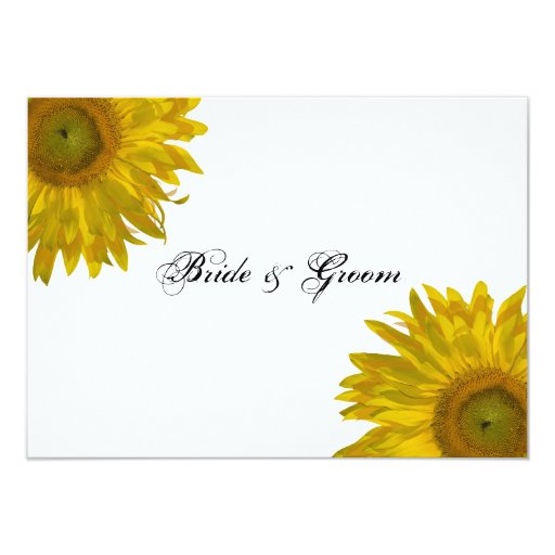 "Sunflower Wedding Flat Stationery Note Cards 4.5"" X 6.25"" Invitation Card"