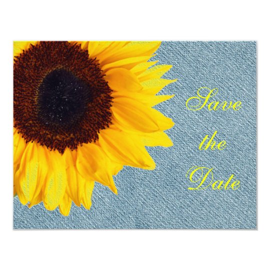 Sunflower Wedding Floral Country Yellow Rustic Card